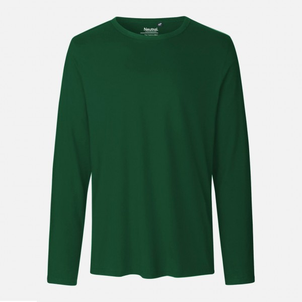 Mens Long Sleeve Shirt - Bio Baumwolle - Bottle Green