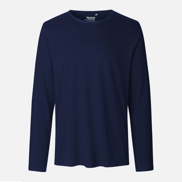 Mens Long Sleeve Shirt - Bio Baumwolle - Navy