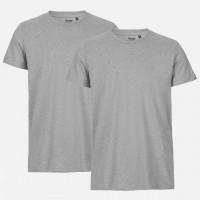 Doppelpack Neutral® Mens Fit T-Shirt - Bio-Baumwolle Sports Grey