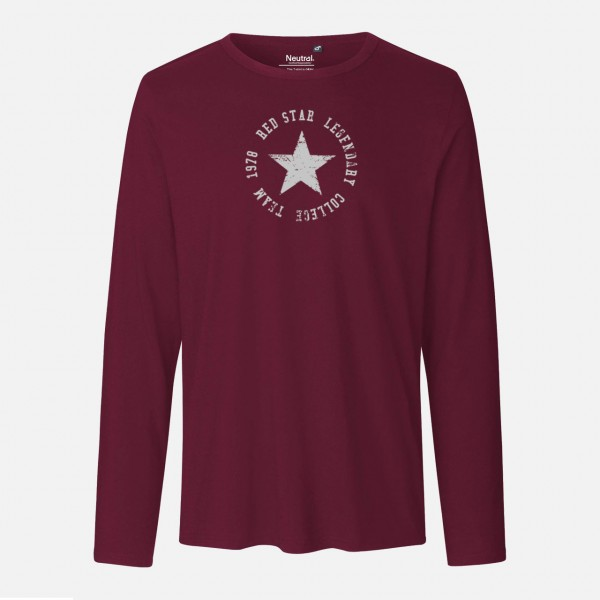 Mens Long Sleeve Shirt - Red Star Collage Team