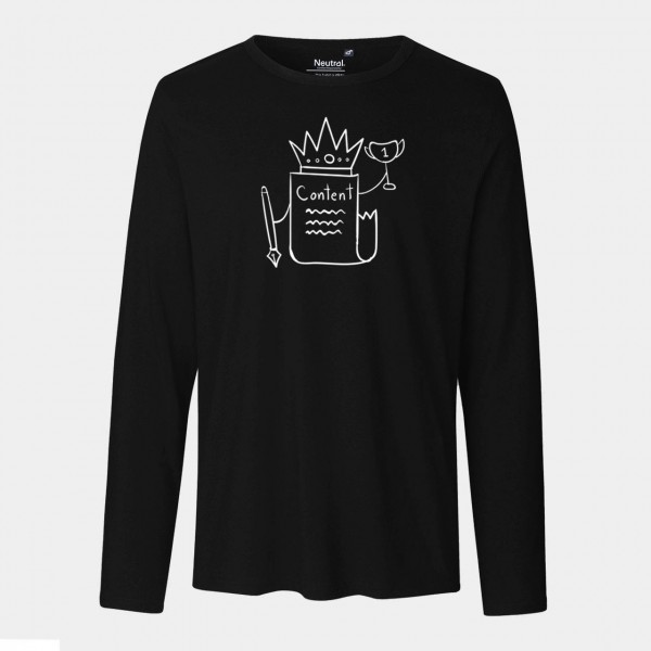 Mens Long Sleeve Shirt - Content is king